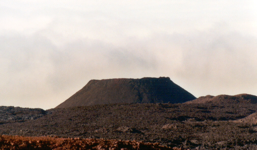 A cinder cone is usually small